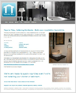 Taps to Tiles Website Kettering Northamptonshire